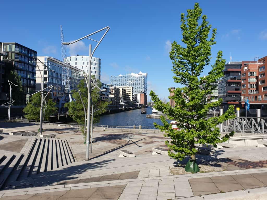 Blick von den Magellan-Terrassen zur Elbphilharmoni (Sommer) - Foto: Follow Me Hamburg