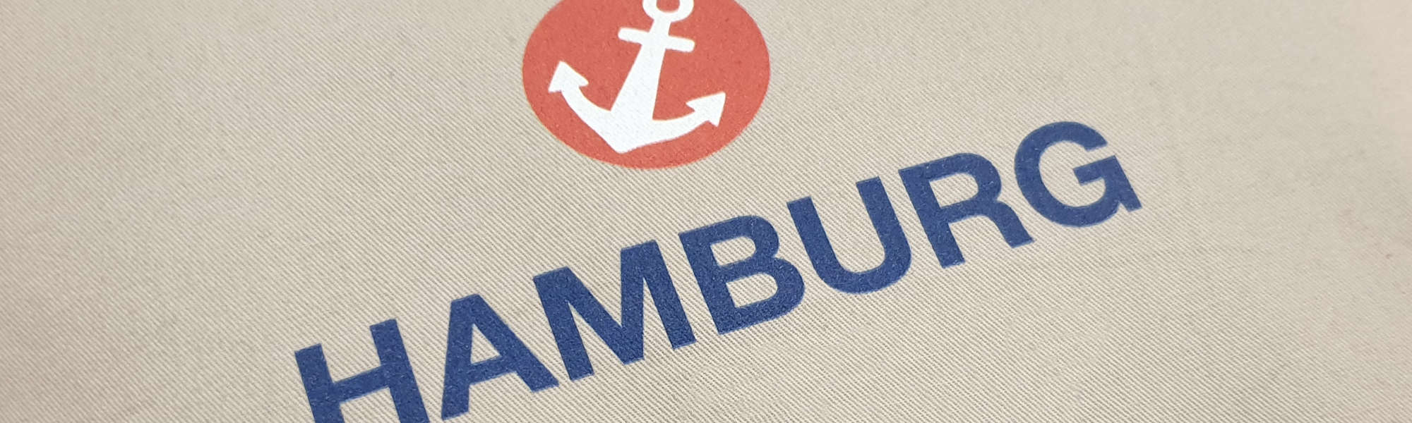 Schriftzug Hamburg mit Anker auf einem Kissen | Foto: FOLLOW ME Hamburg