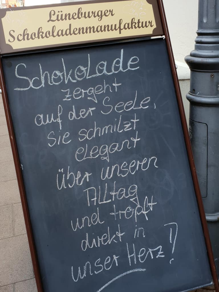 Spruch der Woche der Lüneburger Schokoladenmanufaktur | Foto: FOLLOW ME Hamburg